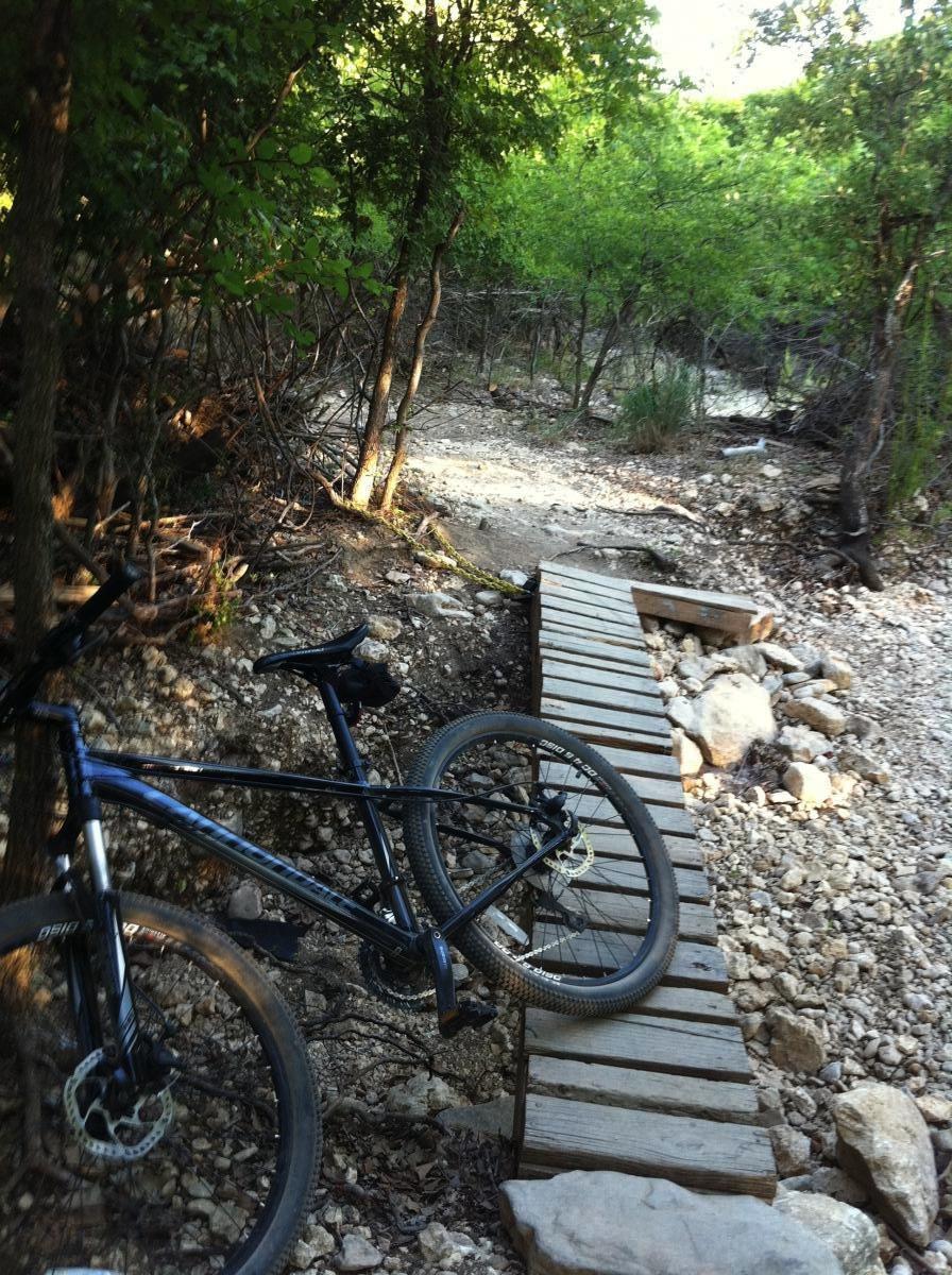 Op Schnabel Park Mountain Bike Trail In San Antonio Texas